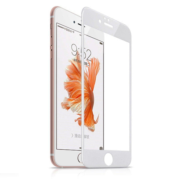 3D Tempered Glass Curved Full Edge Cover Screen Protector For Apple iPhone 6 6s i6 6s white Tempered Glass - YourDeal India