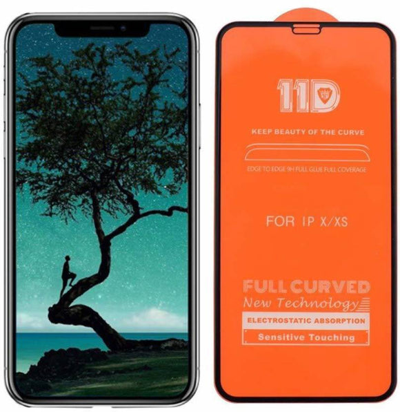 TDG 11D Full Curved Edge Tempered Glass for Apple iPhone 7 Plus / 8 Plus Black - YourDeal India