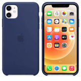 TDG iPhone 12 / 12 Pro Silicone Case Dark Blue