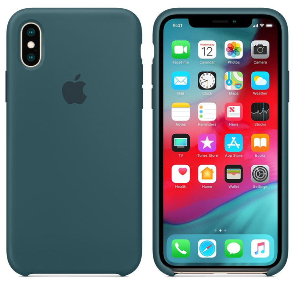 Silicone Case for Apple iPhone XS max - Dark Green