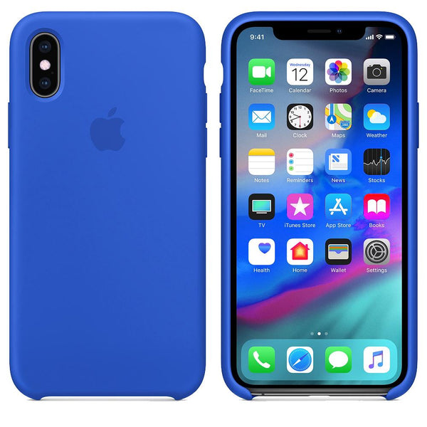 Silicone Case for Apple iPhone XS max - Royal Blue