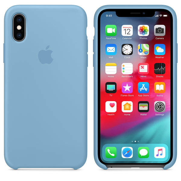 Silicone Case for Apple iPhone X XS - Cornflower