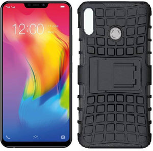 TDG Vivo Y83 Pro Hybrid Defender Case Dual Layer Rugged Back Cover Black - YourDeal India