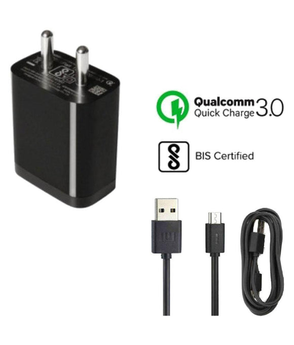 Mi Qualcomm Quick Charge 3.0 Standard Mobile Battery Charger With Charging Cable  Battery Chargers - YourDeal India