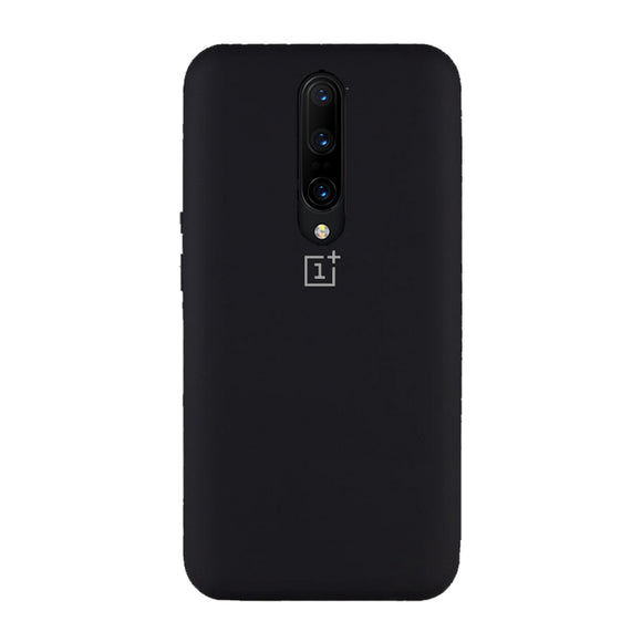 Oneplus 8 liquid silicone case black full cover