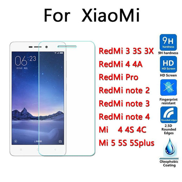 9H 0.26mm Screen Protection Tempered Glass for xiaomi redmi 3 3s 3x pro 4 4a note 2 note 3 note 4 mi4C mi4 5 5S plus  Tempered Glass - YourDeal India