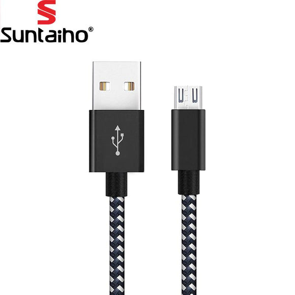 5V 2.4Amp Nylon Braided Fast Charging Micro USB to USB Charger Cable for Samsung Xiaomi LG Huawei Meizu Vivo Oppo  Charging Cable - YourDeal India
