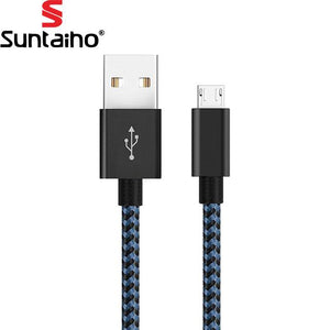 5V 2.4Amp Nylon Braided Fast Charging Micro USB to USB Charger Cable for Samsung Xiaomi LG Huawei Meizu Vivo Oppo - YourDeal India