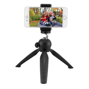 TDG Mini Tripod with Phone Holder Mount Tabletop Tripod Portable Camera Phone Tabletop Support Travel Tripod For Most Phone - YourDeal India