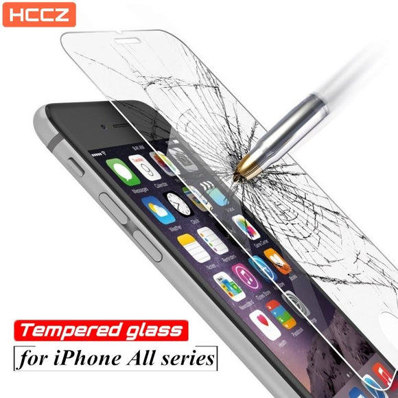 HCCZ 2.5D Premium Tempered Screen protector glass for iPhone 6s 7 8 Plus 5s SE 4 4s X - YourDeal India