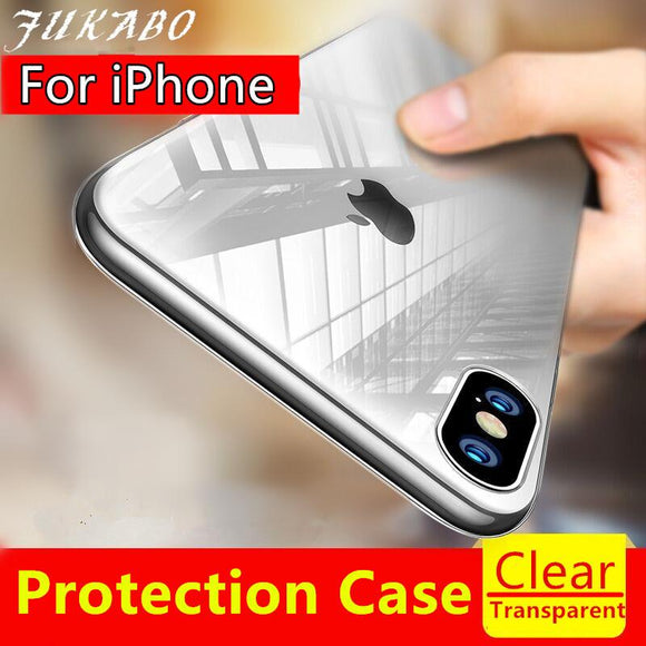 Ultra Thin TPU Soft Silicon Transparent Back Cover Case For iPhone X - YourDeal India