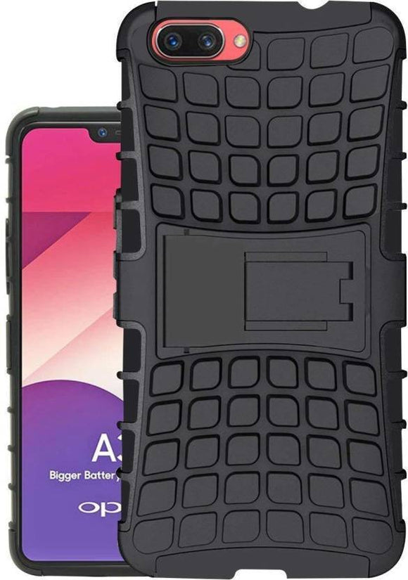 TDG Realme C1 Hybrid Defender Case Dual Layer Rugged Back Cover Black - YourDeal India