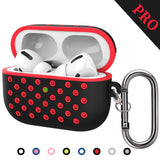 TDG Airpods Pro Soft Dual-Layer Nike Silicone Case Cover with Anti-Lost Carabiner Black / Red - YourDeal India