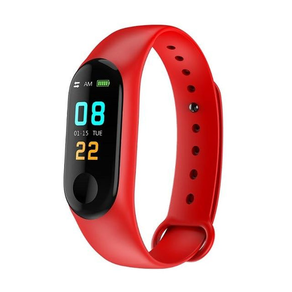 TDG M3 Band Fitness Tracker Smart Band Red - YourDeal India