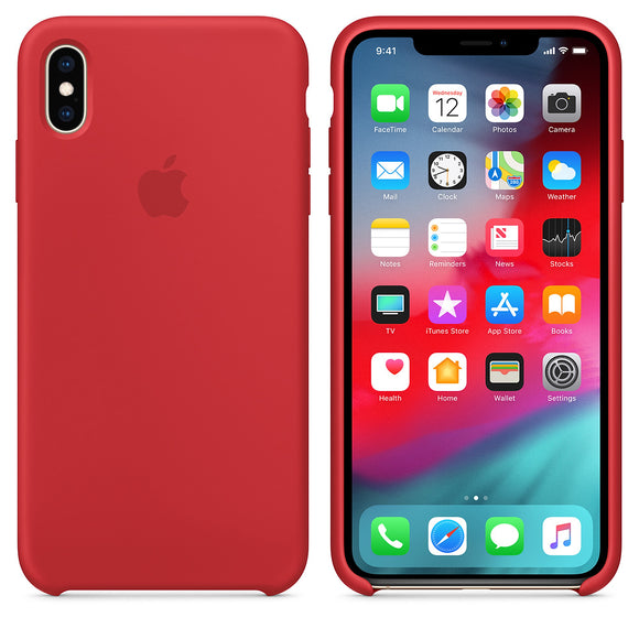TDG OG Liquid SIlicone Case for Apple iPhone XS Max Red - YourDeal India