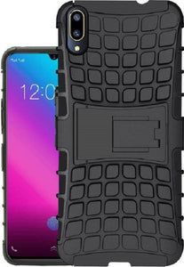 TDG Vivo V11 Pro Hybrid Defender Case Dual Layer Rugged Back Cover Black - YourDeal India