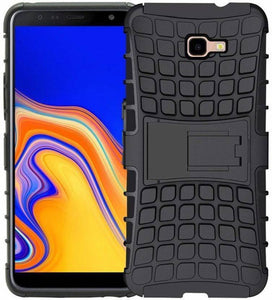 TDG Samsung J4 Plus Hybrid Defender Case Dual Layer Rugged Back Cover Black - YourDeal India
