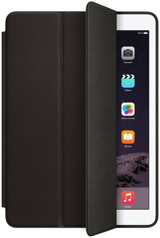 TDG iPad Air 2 9.7 inch Smart Pu Leather Flip Case with Auto Wake/Sleep Cover Black - YourDeal India
