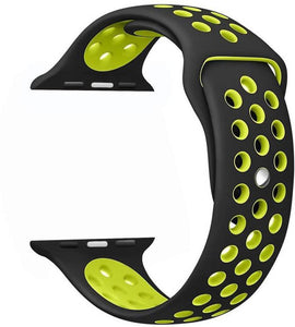 Apple Watch Strap Silicone 42mm for Apple Watch 1 2 3 Black & Yellow - YourDeal India