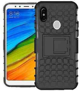 TDG Xiaomi Redmi Note 6 Pro Hybrid Defender Case Dual Layer Rugged Back Cover Black - YourDeal India
