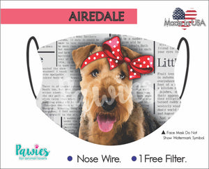 Open image in slideshow, Airedale Terrier Face Mask