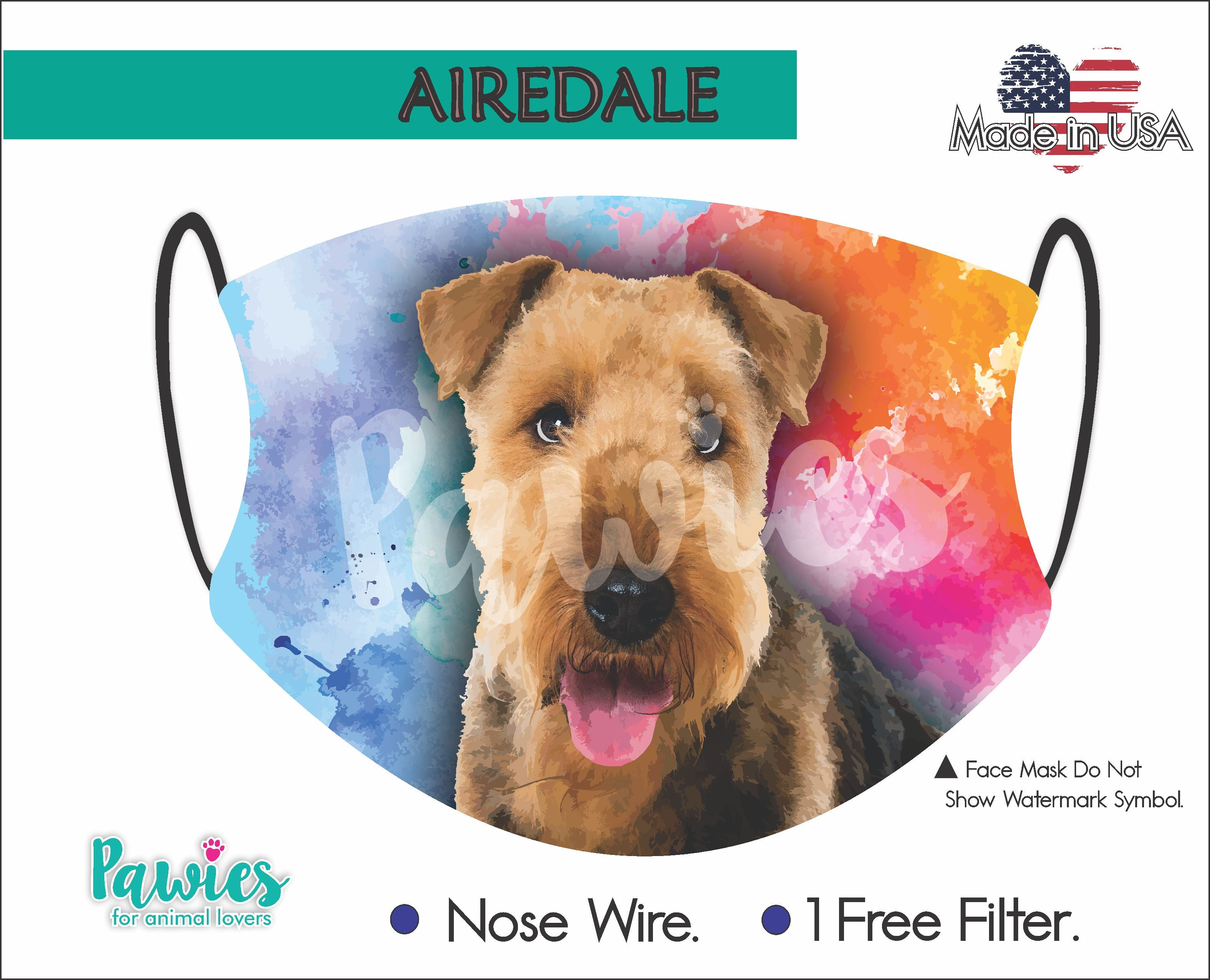 Airedale Terrier Face Mask