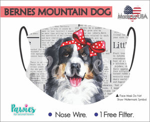 Open image in slideshow, Bernese Mountain Dog Face Mask