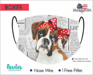 Open image in slideshow, Boxer Fawn Face Mask