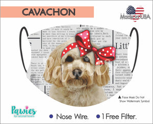 Open image in slideshow, Cavachon Face Mask