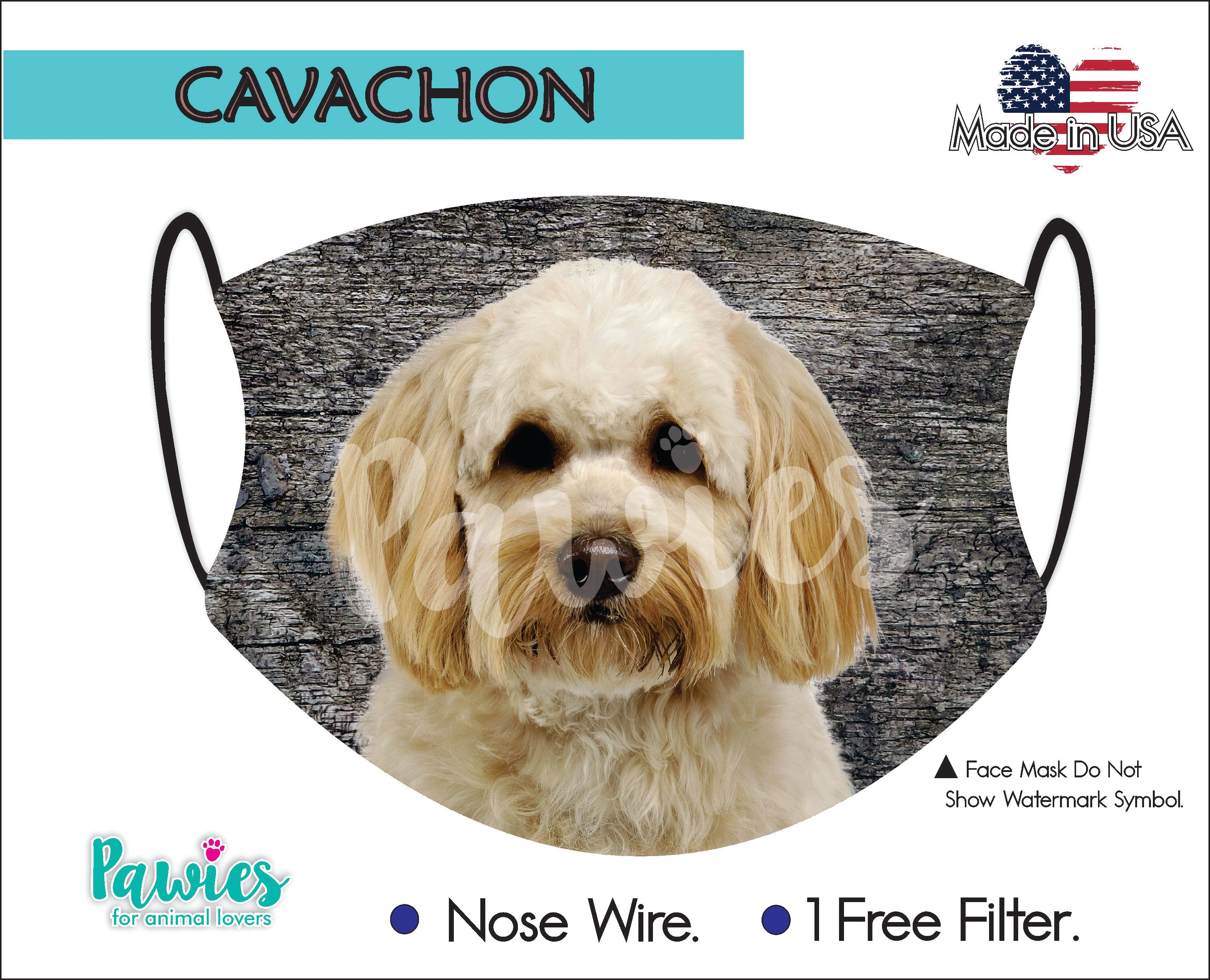 Cavachon Face Mask