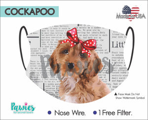 Open image in slideshow, Cockapoo Face Mask