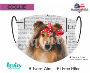Open image in slideshow, Collie Face Mask