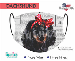 Open image in slideshow, Dachshund Longhaired Face Mask
