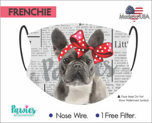 Open image in slideshow, French Bulldog Face Mask