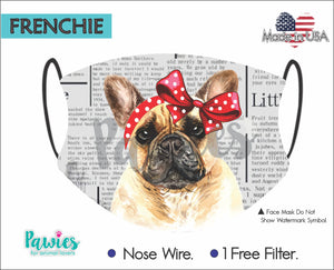 Open image in slideshow, French Bulldog Tan Face Mask