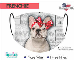 Open image in slideshow, French Bulldog White Face Mask