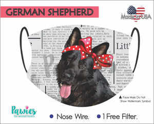 Open image in slideshow, German Shepherd Black Face Mask