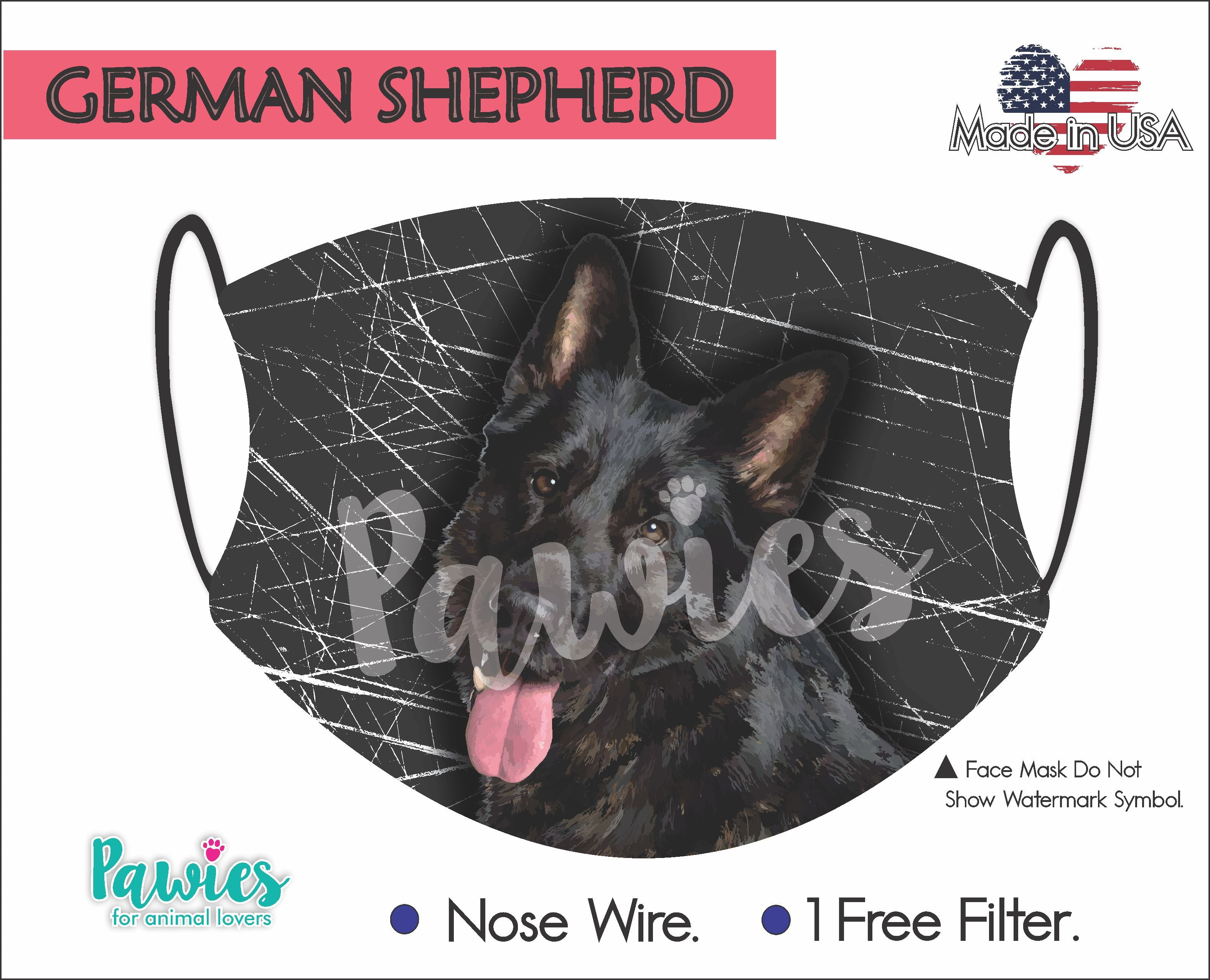 German Shepherd Black Face Mask