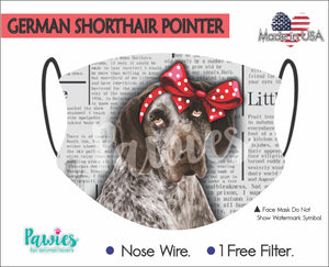 Open image in slideshow, German Shorthaired Pointer Face Mask