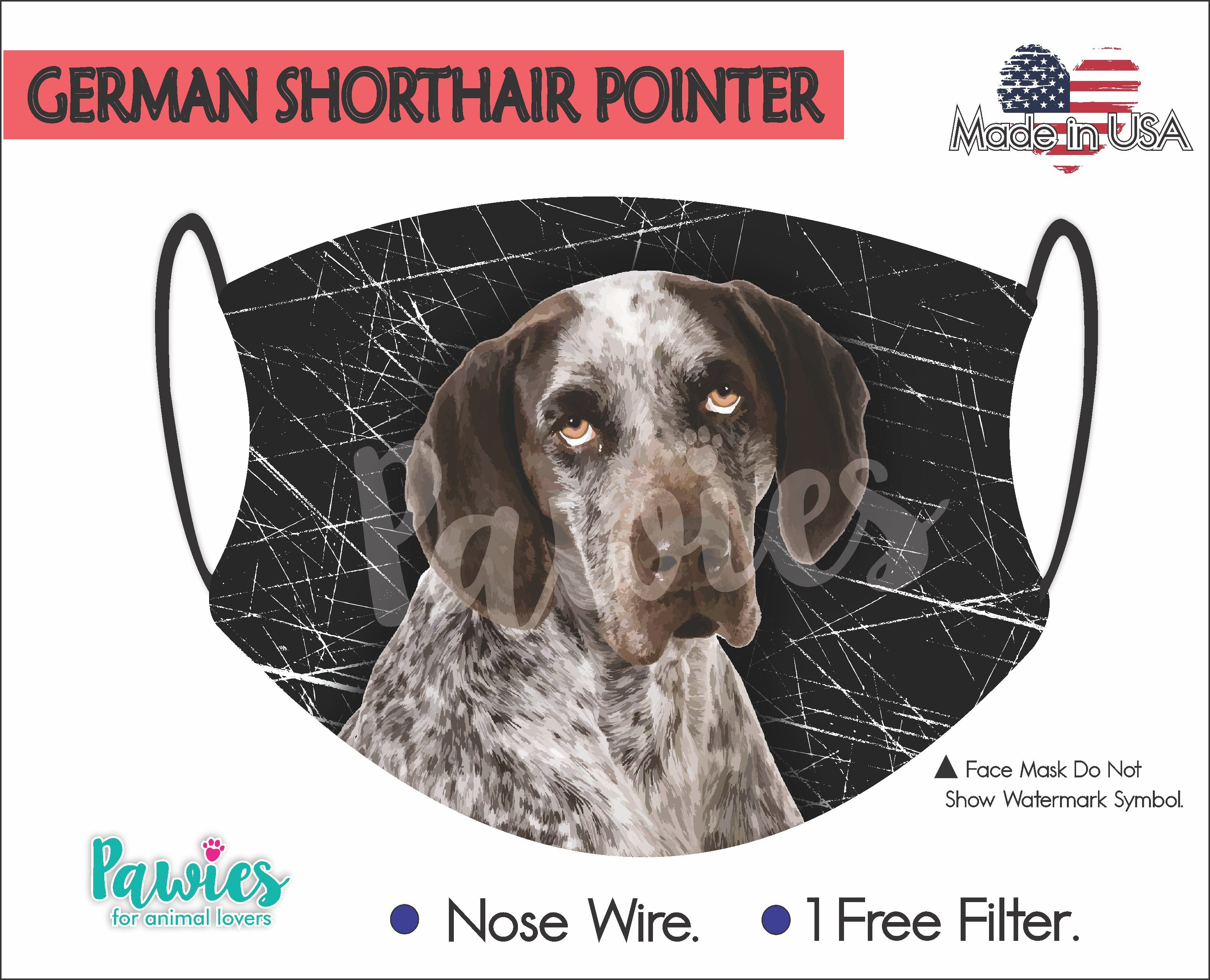 German Shorthaired Pointer Face Mask
