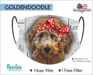 Open image in slideshow, Goldendoodle Chocolate Face Mask
