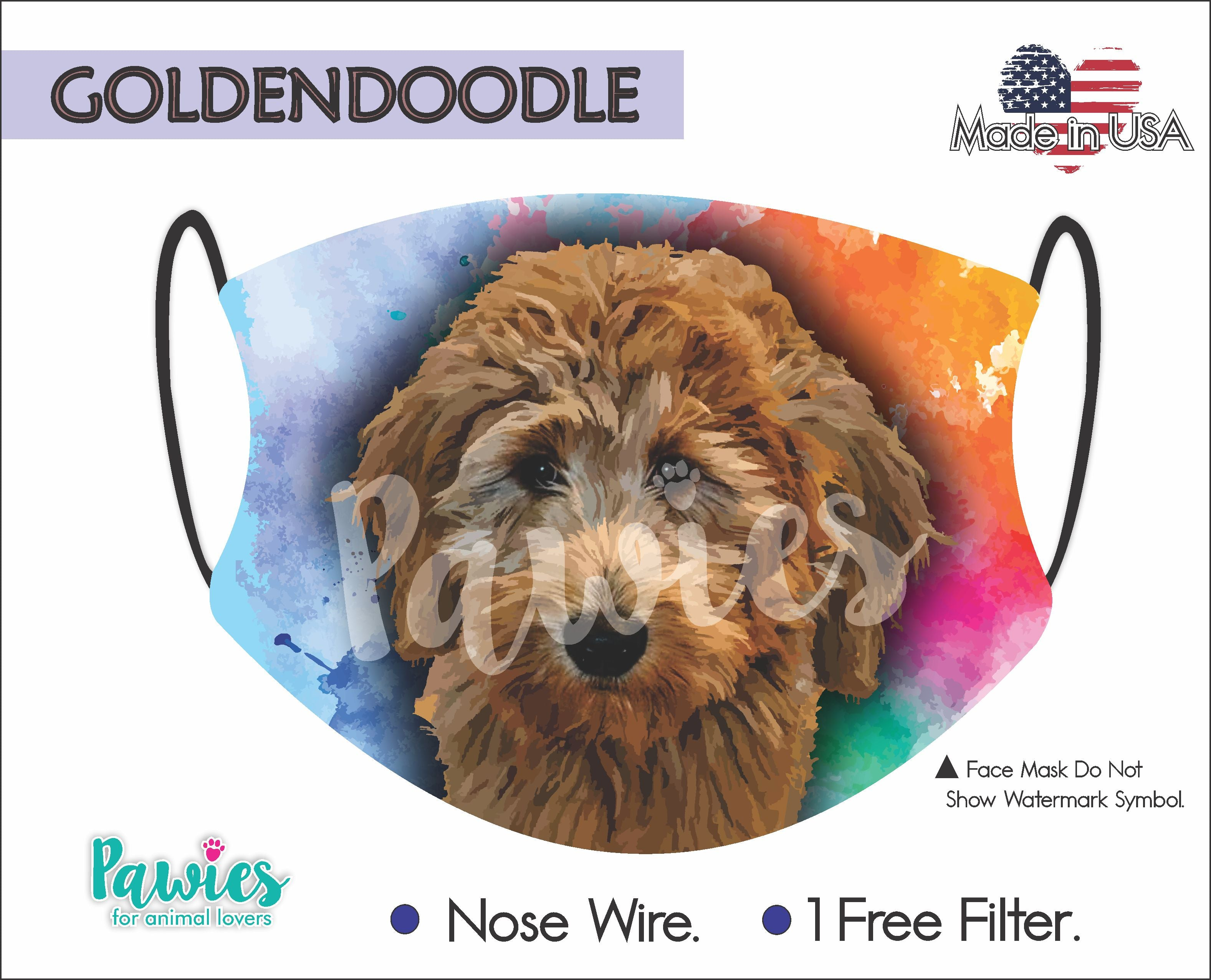 Goldendoodle Chocolate Face Mask