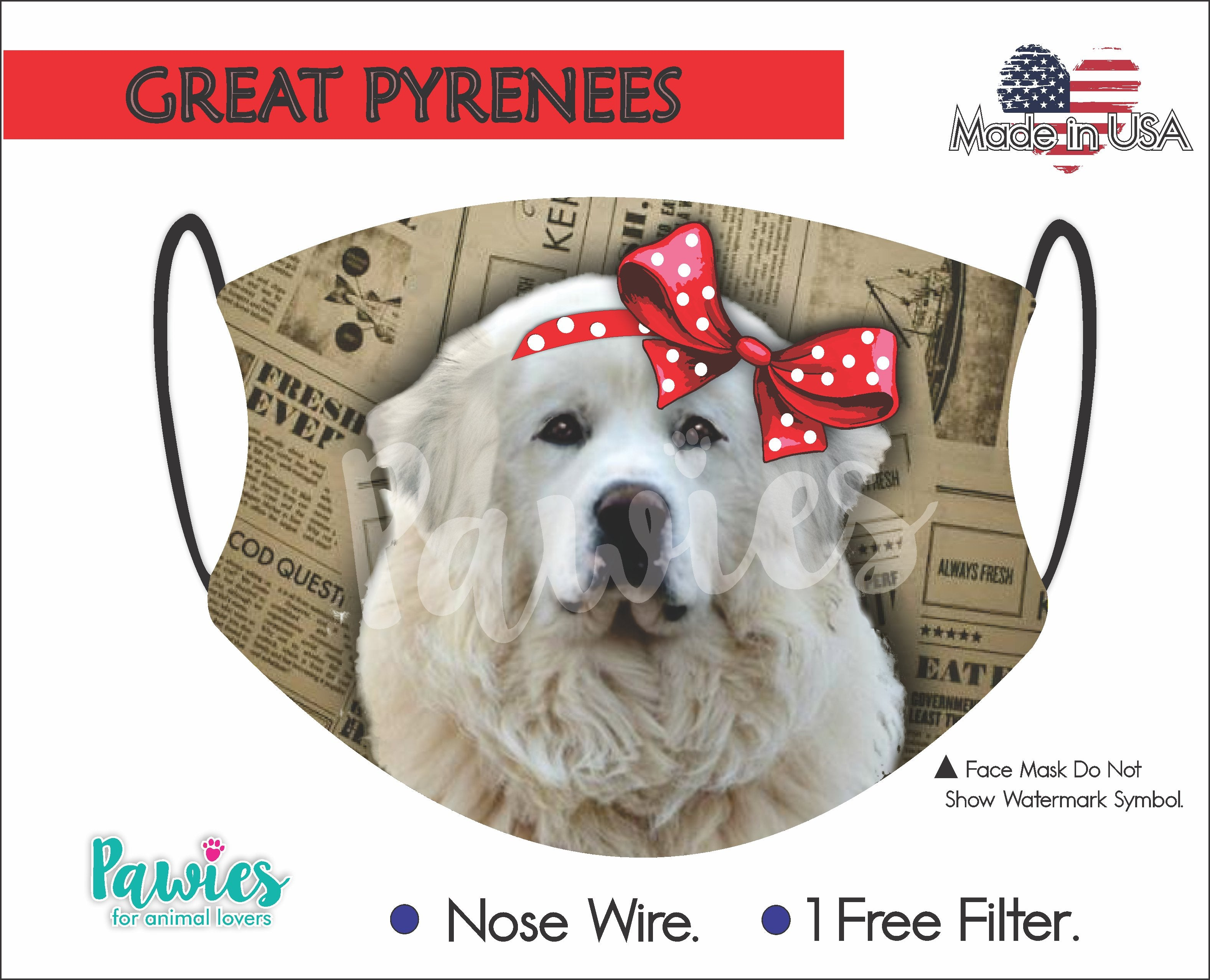 Great Pyrenees Face Mask