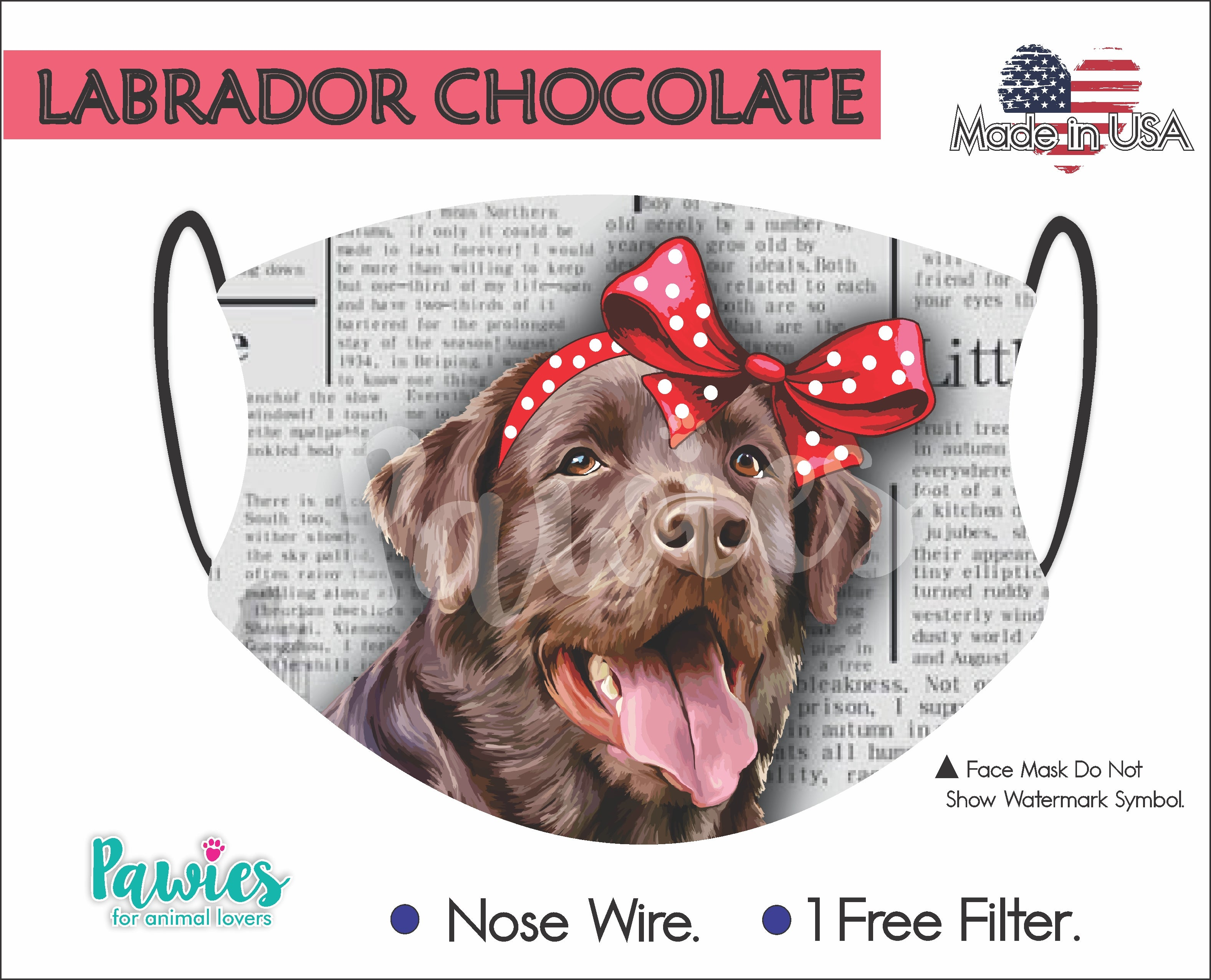 Labrador Chocolate Face Mask