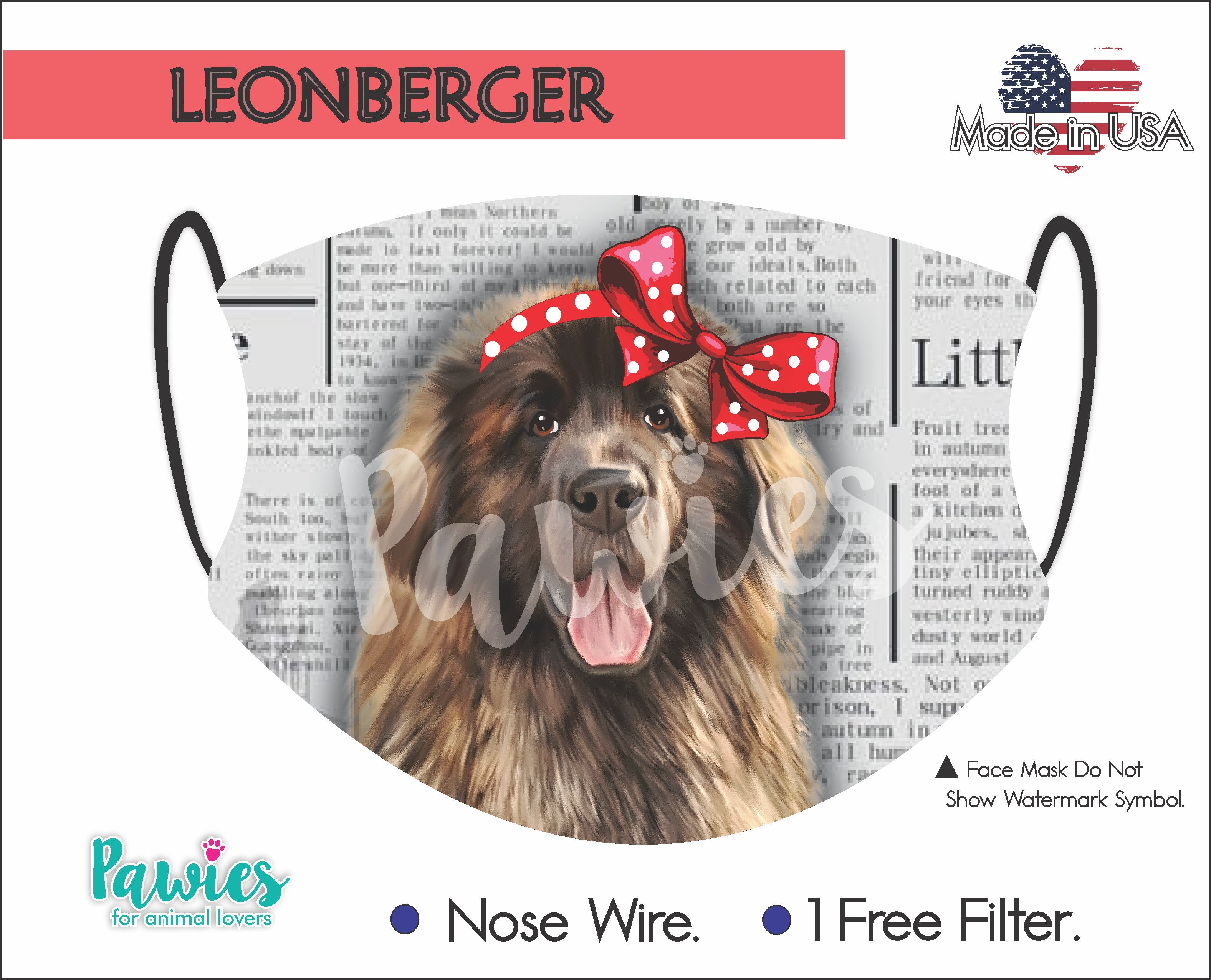 Leonberger Face Mask