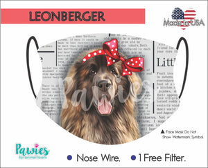 Open image in slideshow, Leonberger Face Mask