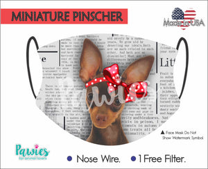 Open image in slideshow, Miniature Pinscher Red Face Mask