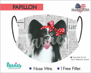 Open image in slideshow, Papillon Black Face Mask