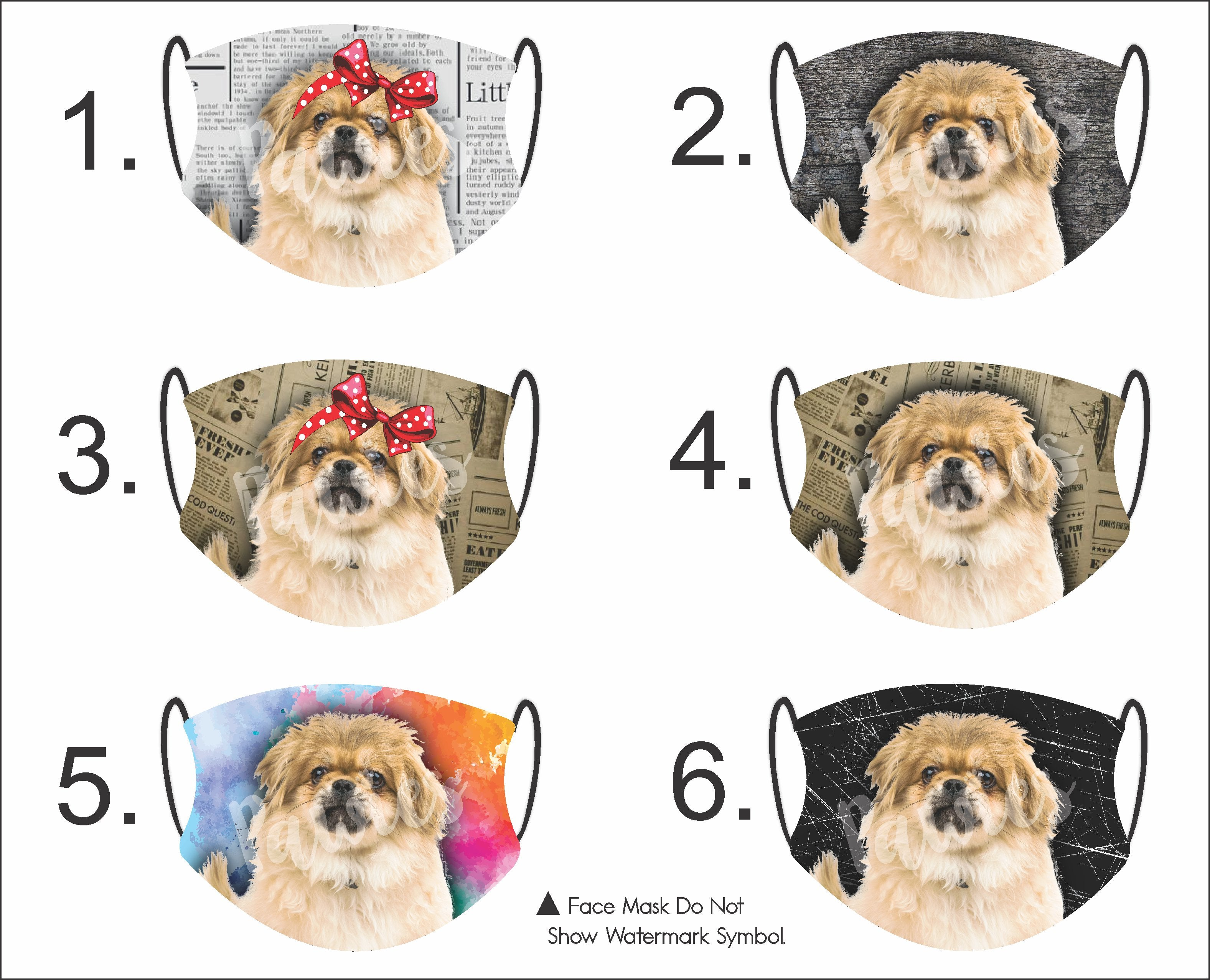 Pekingese Cream Face Mask