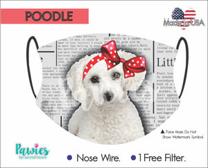 Open image in slideshow, Poodle White Face Mask
